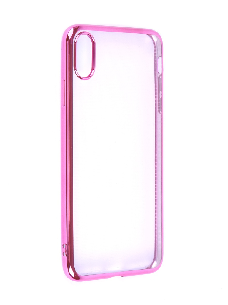 Чехол iBox для APPLE iPhone XS Max Blaze Silicone Pink frame УТ000016114