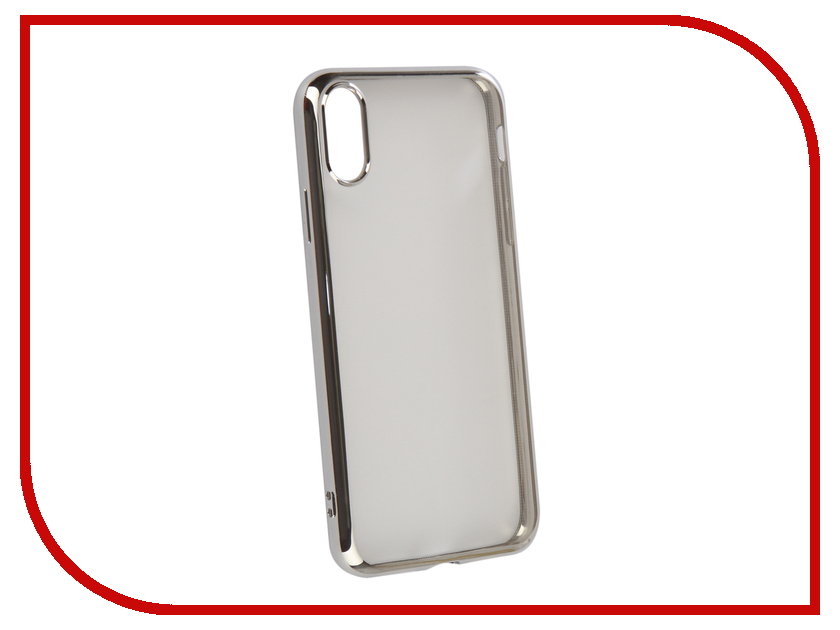 Аксессуар Чехол iBox Blaze Silicone для APPLE iPhone XR Silver frame УТ000016110 стилус iphone ipad