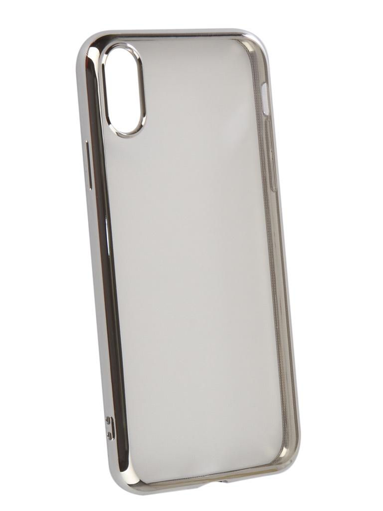 Аксессуар Чехол iBox для APPLE iPhone XR Blaze Silicone Silver frame УТ000016110 аксессуар чехол для apple iphone 5 5s se ibox blaze pink