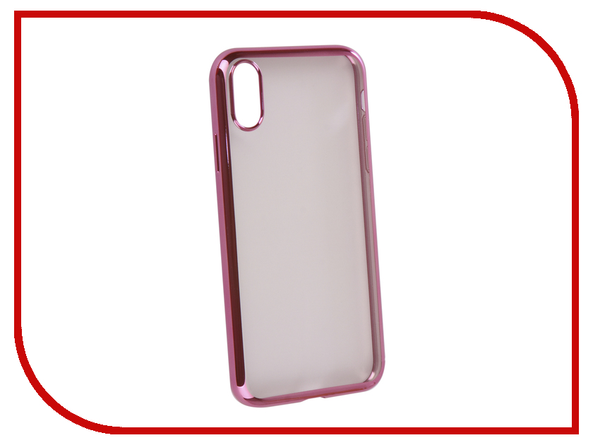 Аксессуар Чехол iBox Blaze Silicone для APPLE iPhone XR Pink frame УТ000016113 аксессуар чехол ibox blaze silicone для apple iphone x xs silver frame