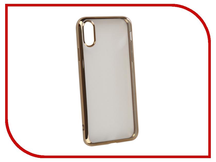 Аксессуар Чехол iBox Blaze Silicone для APPLE iPhone XR Gold frame УТ000016107 аксессуар чехол для apple iphone 6 6s ibox blaze pink