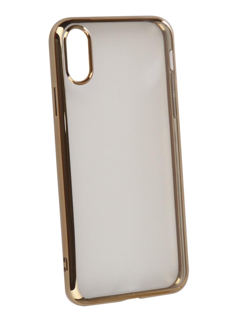 Аксессуар Чехол iBox для APPLE iPhone XR Blaze Silicone Gold frame УТ000016107 аксессуар чехол для apple iphone 5 5s se ibox blaze pink