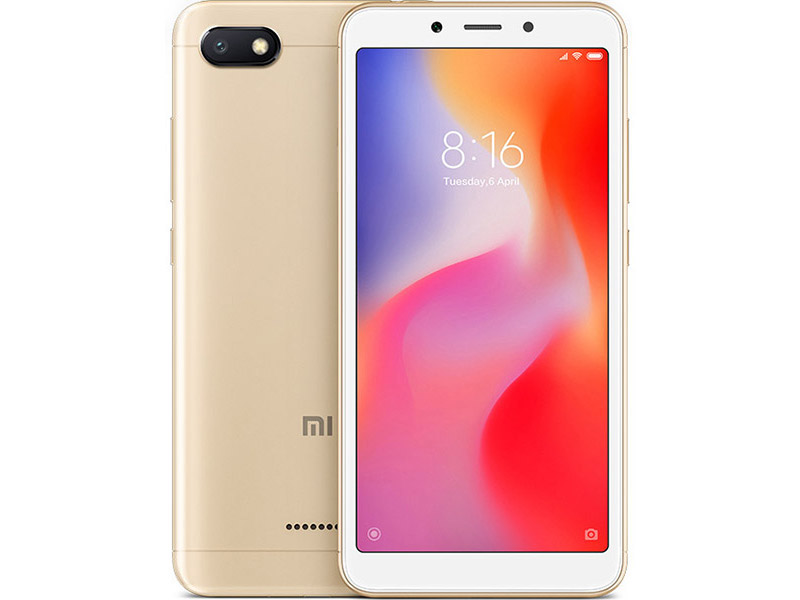 Сотовый телефон Xiaomi Redmi 6A 2/32GB Gold сотовый телефон xiaomi redmi note 5 3 32gb black