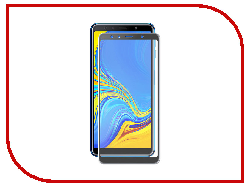 Аксессуар Защитное стекло для Samsung Galaxy A7 2018 Red Line Full Screen Tempered Glass Black УТ000016421 white lcd display touch screen digitizer assembly frame for lenovo a7 30 a3300 replacement parts