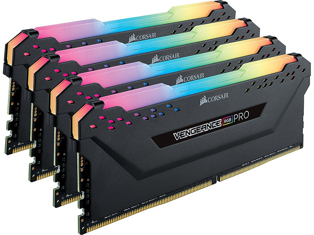 Модуль памяти Corsair DDR4 DIMM 3600Mhz PC4-28800 CL18 - 32Gb KIT (4x8Gb) CMW32GX4M4C3600C18 цена