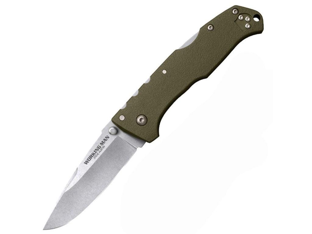 Нож Cold Steel Steve Austin Working Man Dark Green CS/54NVG - длина лезвия 89мм