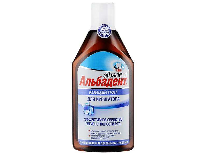 Жидкость для ирригатора Альбадент с женьшенем и лечебными травами 400ml цены онлайн