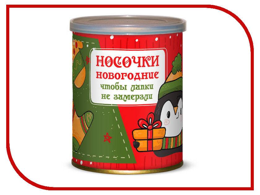Носочки новогодние чтобы лапки не мёрзли Canned Socks В ассортименте 416840 носки неприкосновенный запас canned socks black 415294
