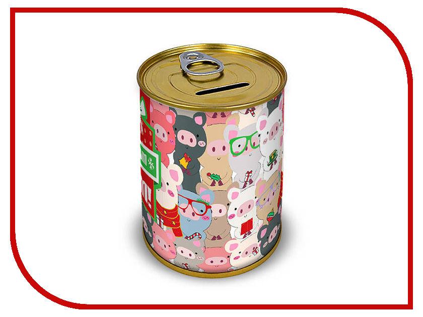 Копилка для денег Canned Money С Новым годом! 410053 копилка для денег drivemotion голодный пес
