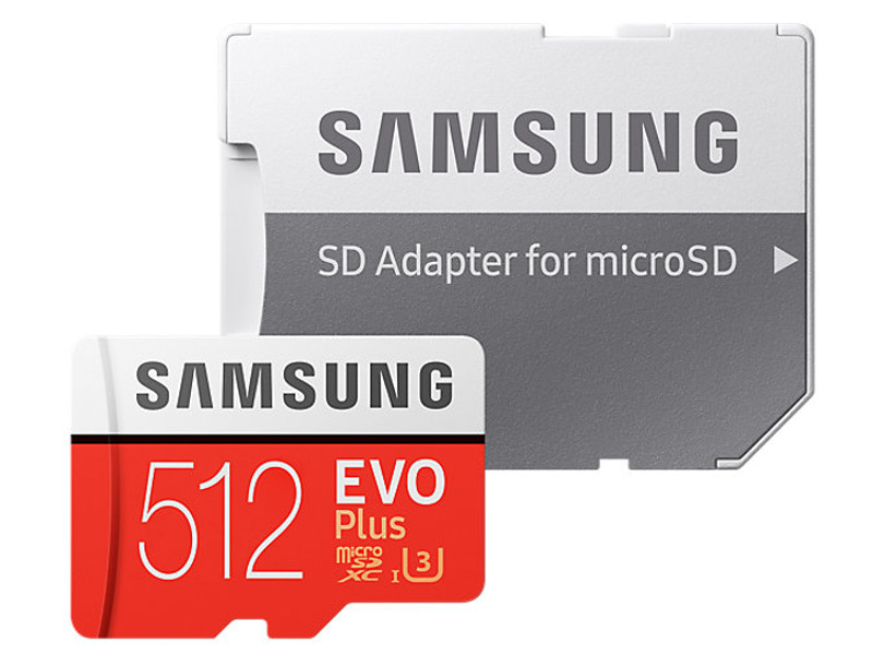 Карта памяти 512Gb - Samsung EVO Plus V2 - Micro Secure Digital HC MB-MC512GA/RU с переходником под SD цена