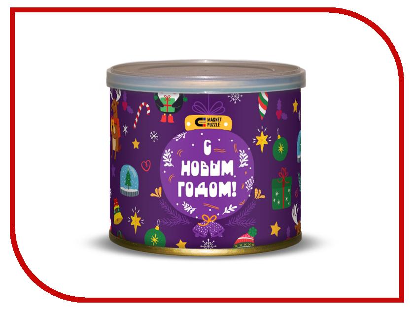 Пазл Canned Magnet Puzzle Новогодние игрушки 416697 музыкальные игрушки азбукварик новогодние игрушки елочка