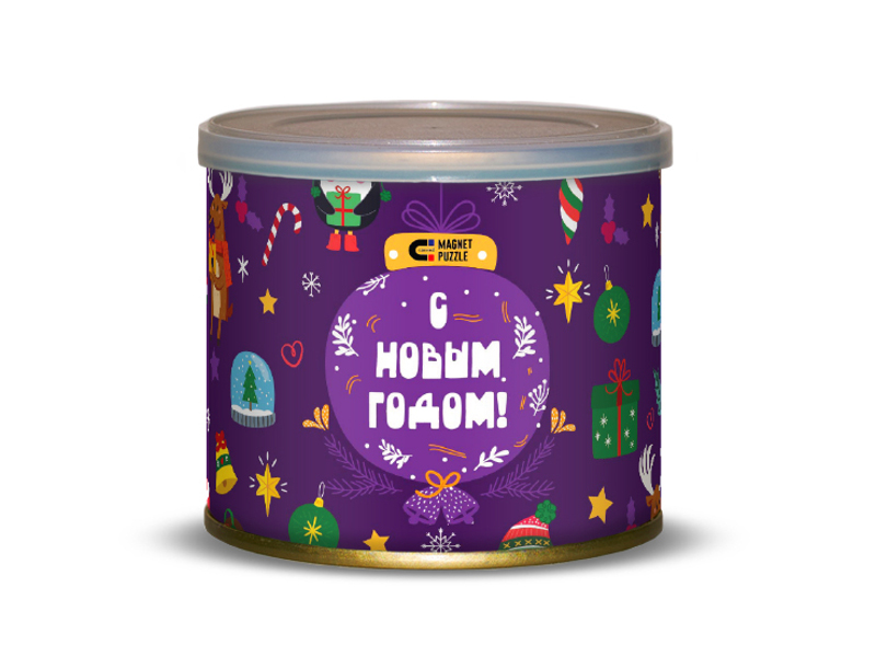 Пазл Canned Magnet Puzzle Новогодние игрушки 416697