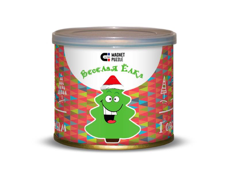 Пазл Canned Magnet Puzzle Веселая елка 416666