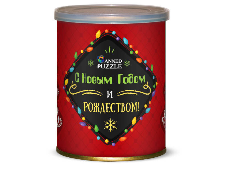 Пазл Canned Puzzle Елка новогодняя Red 416635