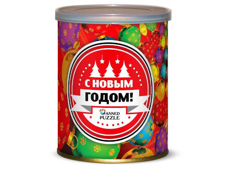 Пазл Canned Puzzle Елка с новогодними шарами 416628