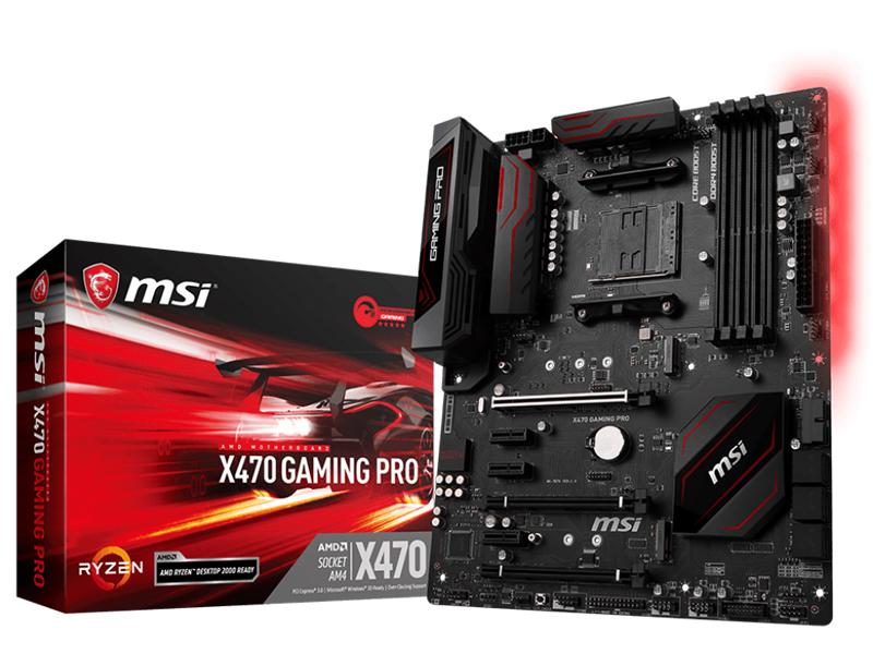 Материнская плата MSI X470 Gaming Pro цена и фото