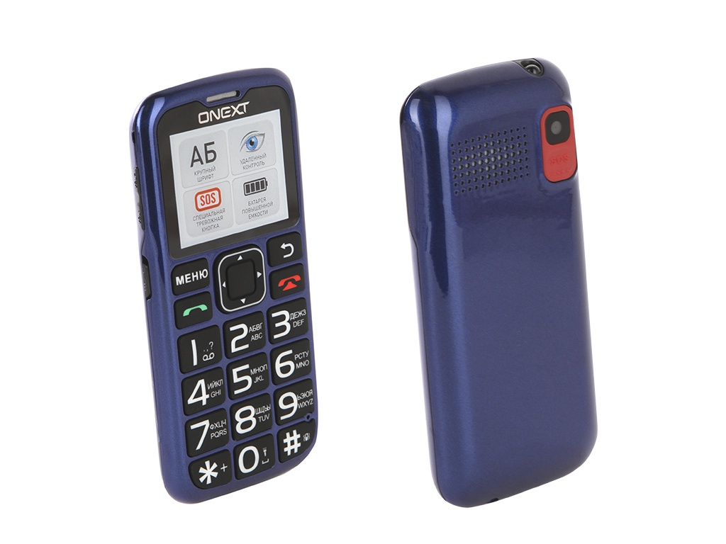 Сотовый телефон Onext Care-Phone 5 Blue 71127