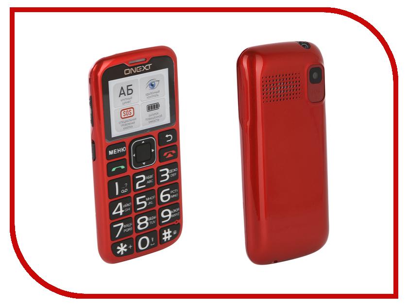 Сотовый телефон Onext Care-Phone 5 Red 71128 сотовый телефон onext care phone 5 blue 71127