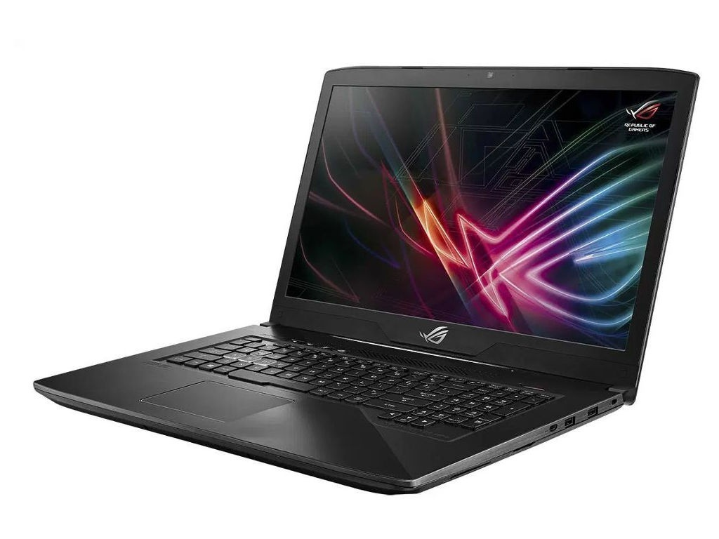 цена на Ноутбук ASUS ROG GL703GE-GC168T Aluminium Black 90NR00D2-M03470 (Intel Core i5-8300H 2.3 GHz/16384Mb/1000Gb+128Gb SSD/nVidia GeForce GTX 1050Ti 4096Mb/Wi-Fi/Bluetooth/Cam/17.3/1920x1080/Windows 10 Home 64-bit)