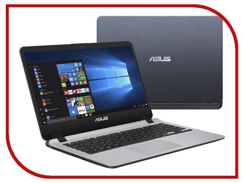 Ноутбук ASUS X407UB-EB148T Stary Grey 90NB0HQ1-M01900 (Intel Core i3-7100U 2.4 GHz/8192Mb/1000Gb/nVidia GeForce MX110 2048Mb/Wi-Fi/Bluetooth/Cam/14.0/1920x1080/Windows 10) цена