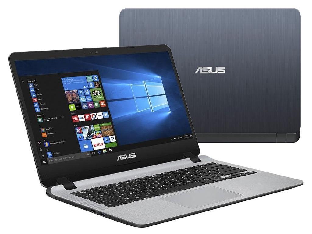 Ноутбук ASUS X407UB-EB148T Stary Grey 90NB0HQ1-M01900 (Intel Core i3-7100U 2.4 GHz/8192Mb/1000Gb/nVidia GeForce MX110 2048Mb/Wi-Fi/Bluetooth/Cam/14.0/1920x1080/Windows 10)