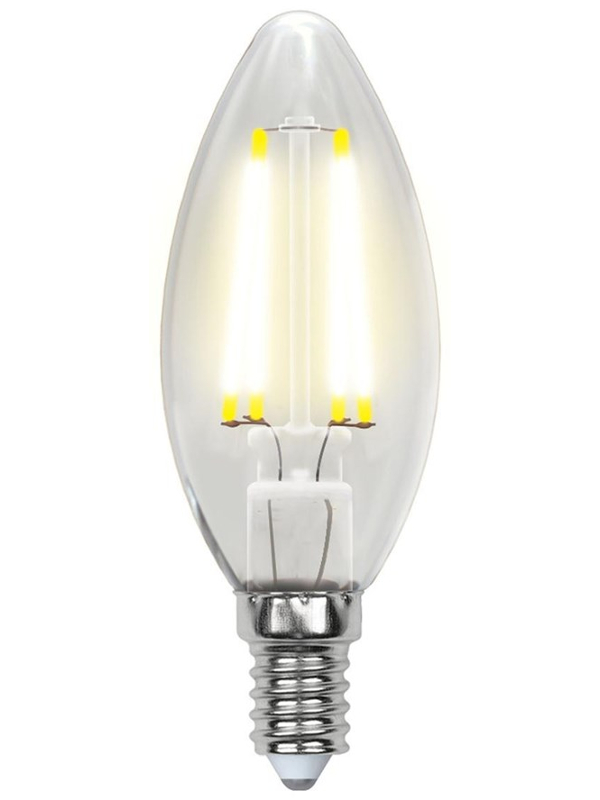 Лампочка Uniel LED C35 E14 6W 200-250V 4000K 500Lm Daylight LED-C35-6W/NW/E14/CL PLS02WH