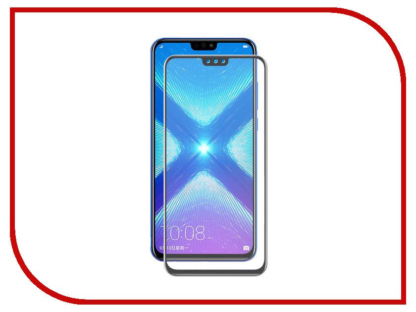 Аксессуар Закаленное стекло для Huawei Honor 8X/8X Premium DF Full Screen + Fullglue hwColor-74 Black аксессуар закаленное стекло для huawei honor 6x df full screen hwcolor 06 black