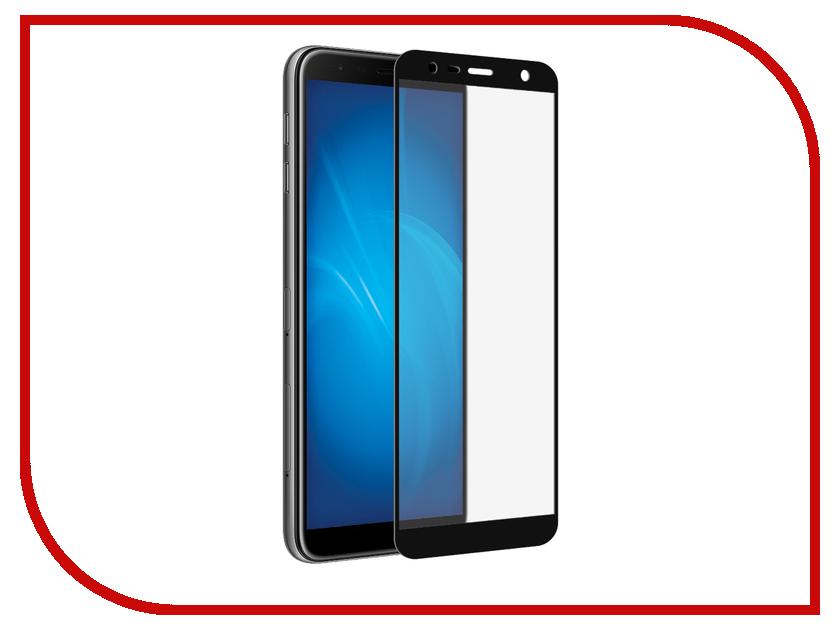 все цены на Аксессуар Закаленное стекло для Samsung Galaxy J4 Plus 2018 / Galaxy J6 Plus 2018 DF Full Screen sColor-54 Black онлайн