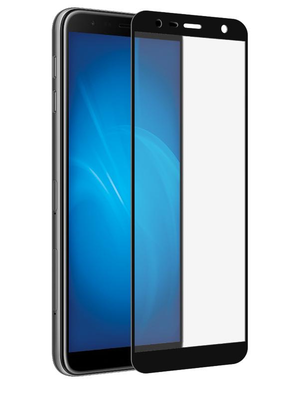 Аксессуар Закаленное стекло DF для Samsung Galaxy J4 Plus 2018 / J6 Full Screen sColor-54 Black