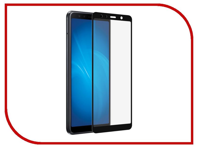 Аксессуар Закаленное стекло для Samsung Galaxy A7 2018 DF Full Screen sColor-56 Black аксессуар закаленное стекло samsung galaxy a7 2016 df scolor 04 white