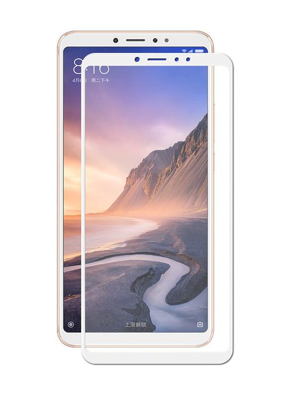 Аксессуар Защитное стекло Mobius для Xiaomi Mi Max 3 3D Full Cover White аксессуар противоударное стекло для xiaomi mi 7 innovation 2d full glue cover white 12756
