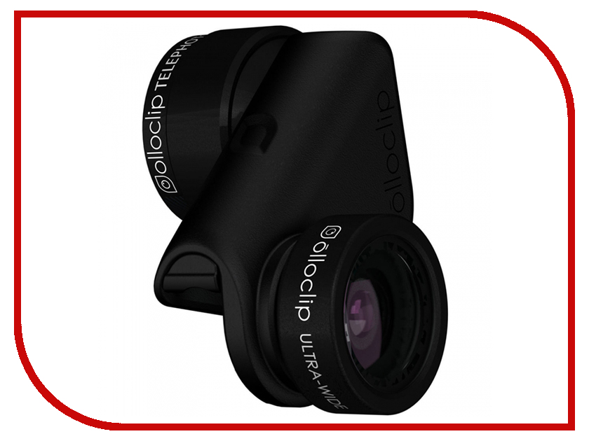 Аксессуар Объектив для APPLE iPhone 8/7 / 8/7 Plus Olloclip Ultra-Wide + Telephoto Lens Black OC-0000285-EA detachable 12x telephoto lens set for iphone 5c black