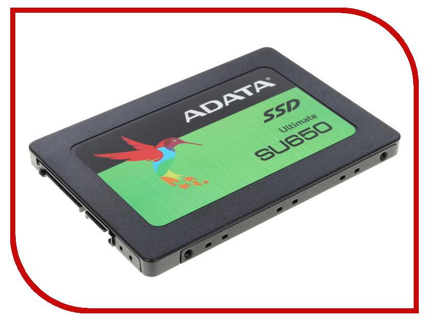 Жесткий диск 240Gb - A-Data Ultimate SU650 ASU650SS-240GT-R твердотельный диск 240gb a data ultimate su630 2 5 sata iii [r w 520 450 mb s] 3d qlc