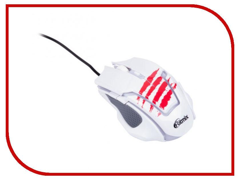 Мышь Ritmix ROM-350 White алкотестер ritmix rat 350 silver