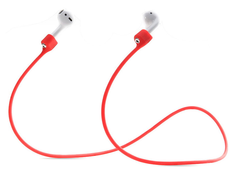 Аксессуар Шнурки GS для APPLE Airpods Red SWA2 аксессуар силиконовые насадки gs для apple airpods transparent airs4