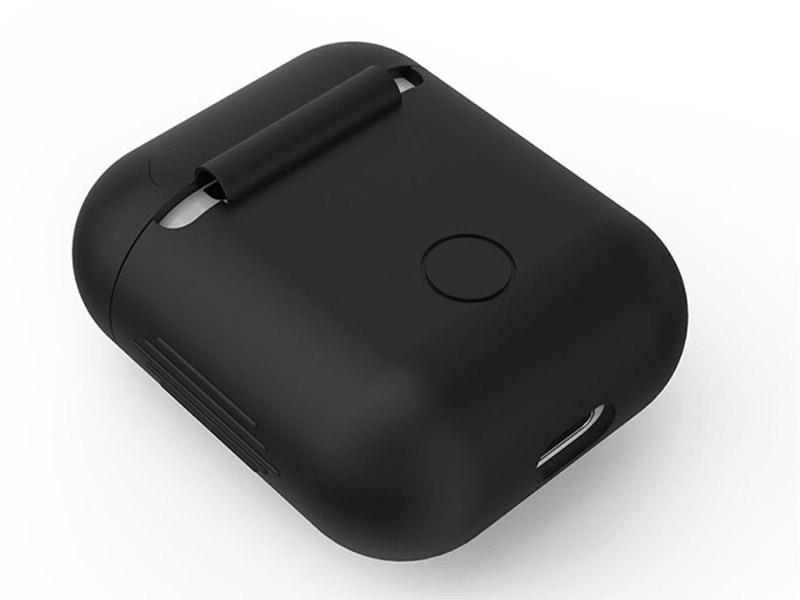 Аксессуар Чехол GS для APPLE Airpods Black AirC5 аксессуар силиконовые насадки gs для apple airpods transparent airs4
