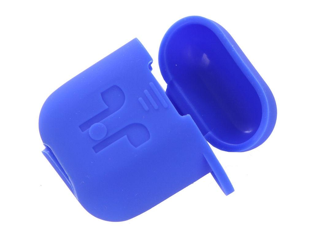 Аксессуар Чехол GS для APPLE Airpods Blue AirC4 аксессуар силиконовые насадки gs для apple airpods transparent airs4