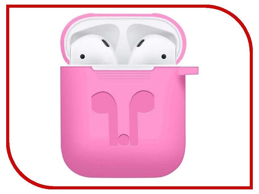 Аксессуар Чехол GS для APPLE Airpods Pink AirC3 аксессуар шнурки gs для apple airpods black swa5
