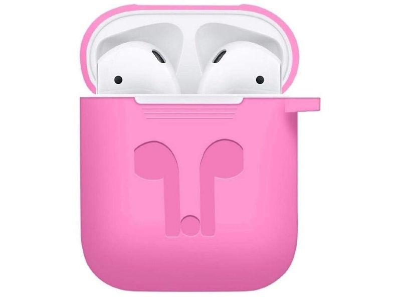 Аксессуар Чехол GS для APPLE Airpods Pink AirC3 аксессуар силиконовые насадки gs для apple airpods transparent airs4