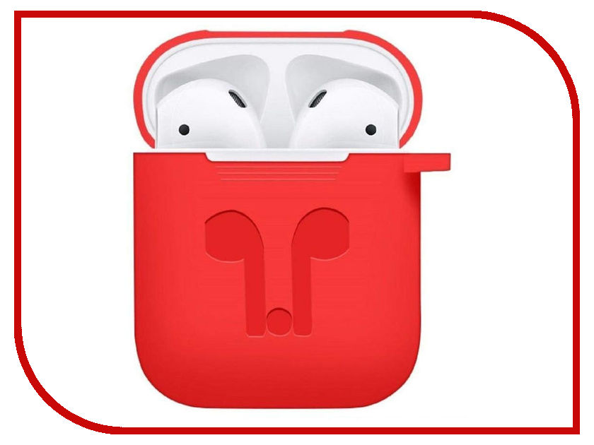Аксессуар Чехол GS для APPLE Airpods Red AirC2 аксессуар baseus earphone strap green для apple airpods acgs a06