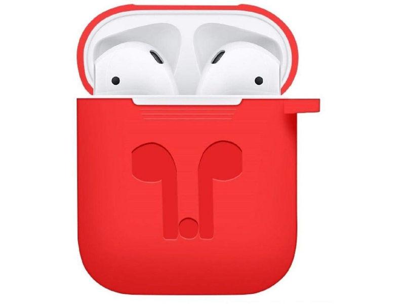 Аксессуар Чехол GS для APPLE Airpods Red AirC2 аксессуар силиконовые насадки gs для apple airpods transparent airs4