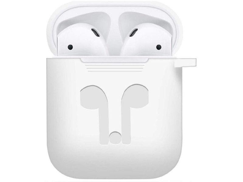 Аксессуар Чехол GS для APPLE Airpods White AirC1 аксессуар силиконовые насадки gs для apple airpods transparent airs4