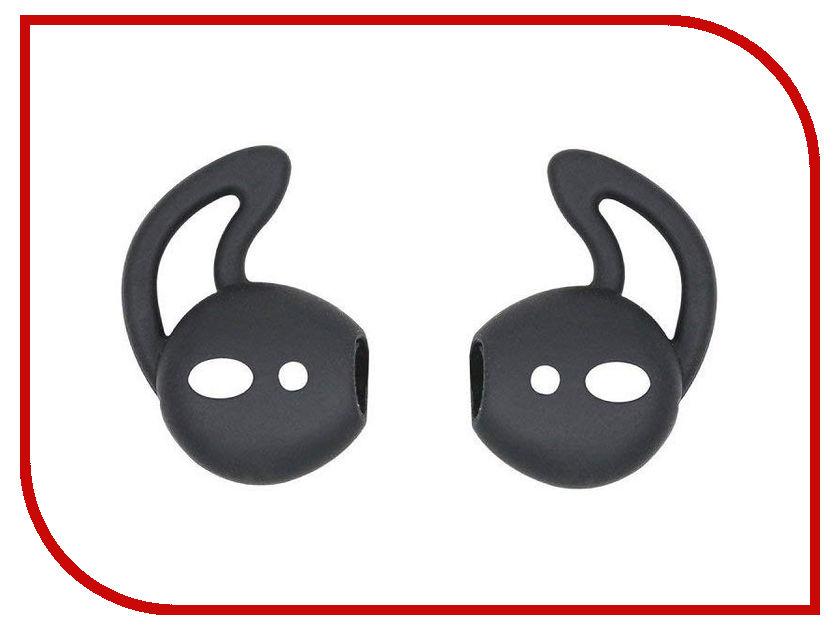 Аксессуар Силиконовые насадки GS для APPLE AirPods Black AirS5 аксессуар шнурки gs для apple airpods black swa5