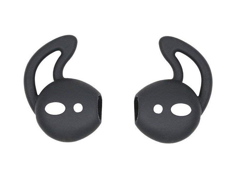 Аксессуар Силиконовые насадки GS для APPLE AirPods Black AirS5 аксессуар силиконовые насадки gs для apple airpods white airs1
