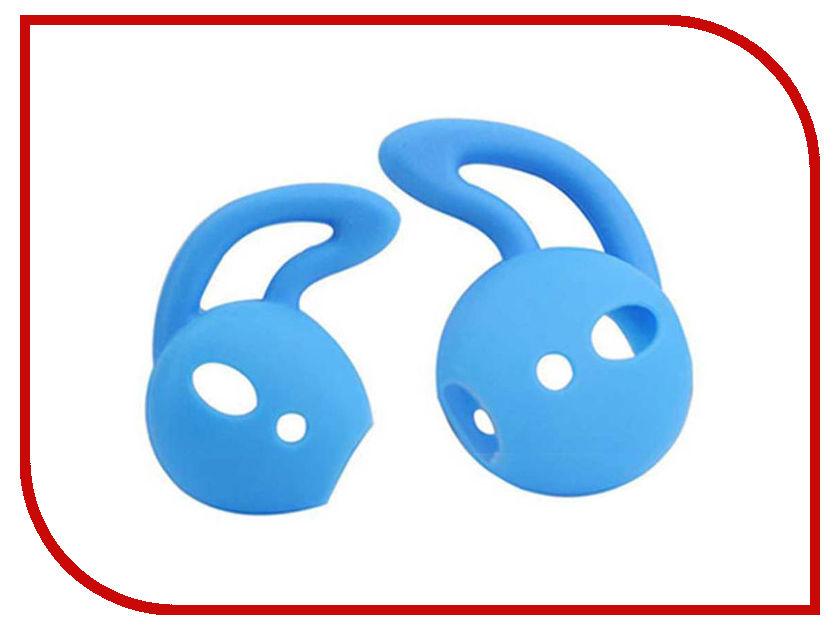 Аксессуар Силиконовые насадки GS для APPLE AirPods Light Blue AirS2 аксессуар шнурки gs для apple airpods black swa5