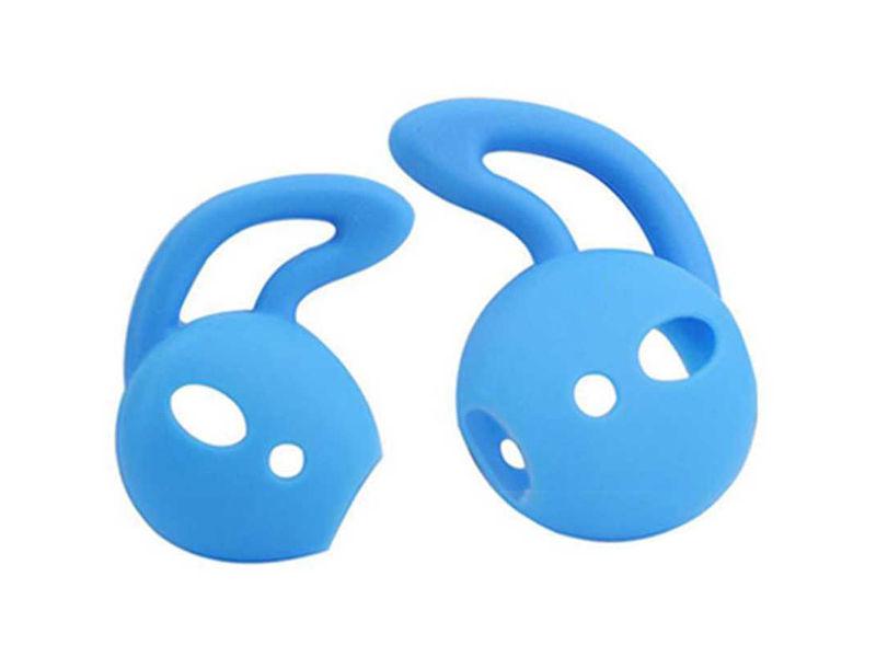 Аксессуар Силиконовые насадки GS для APPLE AirPods Light Blue AirS2 аксессуар силиконовые насадки gs для apple airpods transparent airs4