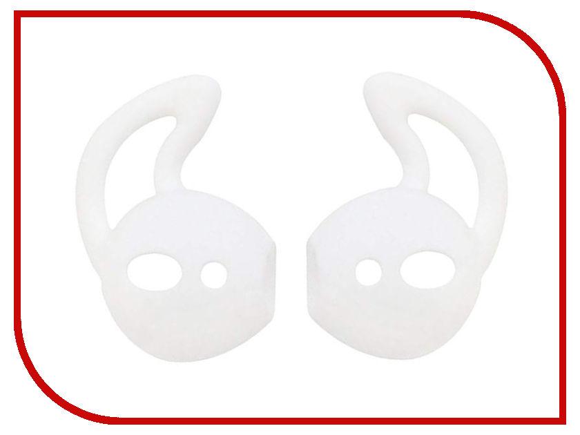 Аксессуар Силиконовые насадки GS для APPLE AirPods White AirS1 аксессуар шнурки gs для apple airpods black swa5