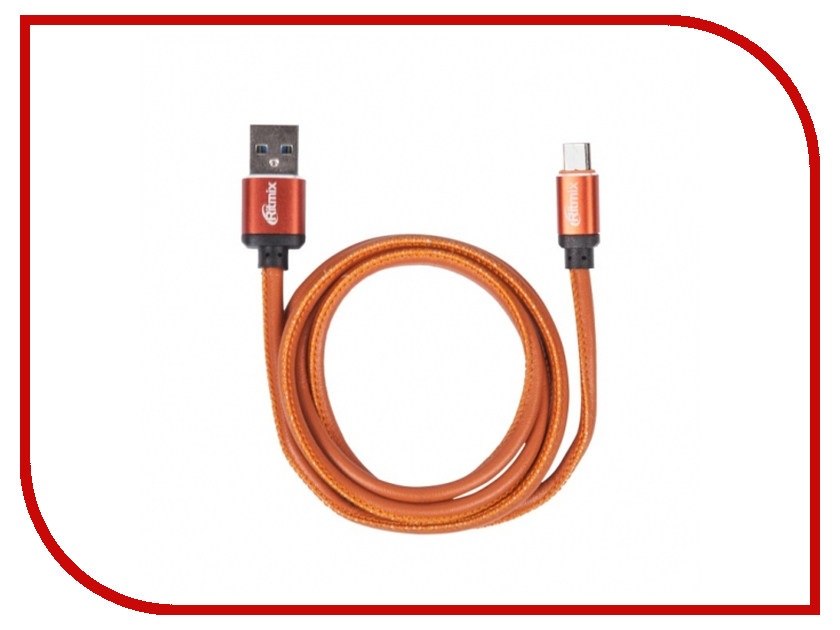 Аксессуар Ritmix RCC-415 USB 2.0 - MicroUSB Leather 15119661