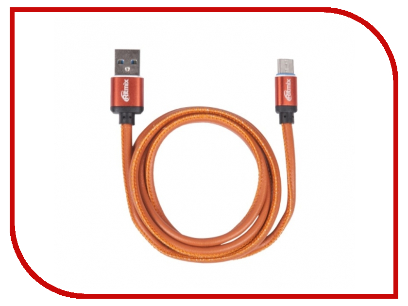 Аксессуар Ritmix RCC-435 USB 2.0 - Type-C Leather 15119662