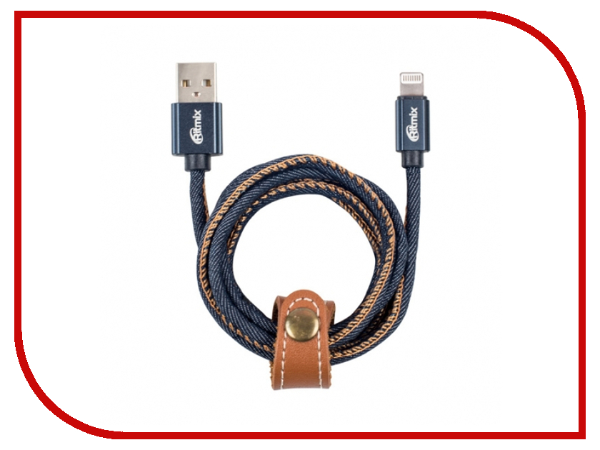 Аксессуар Ritmix RCC-427 USB - Lightning Jeans 15119755 аксессуар yoobao jean usb lightning yb 427 blue
